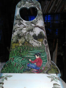 HAND CRAFTED AND HAND PAINTED CHILDRENS CHAIR Belleville Belleville Area image 2