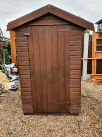 5' X 4' SHED GOOD CONDITION WITH NEW FELT ROOF FREE LOCAL DELIVERY