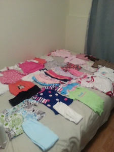 lots 9 months girl clothes(63 items)