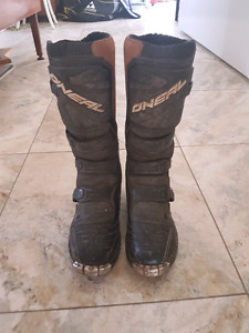 O'Neal dirtbike boots size 9