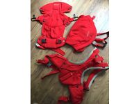 Stokke MyCarrier 3in1 baby carrier (red)