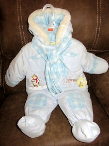 New with tags Classic Pooh 0-6 months winter suit