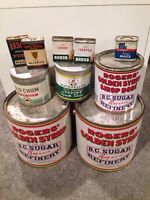 Various Collector antique cans $50