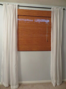 Complete window treatment for two matching windows,