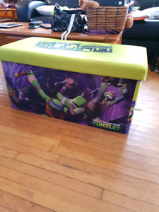 Kids play chest with bench :)  ninja turtle quick set up tent