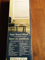 Faux wood blind