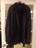 4 XLT.  Lined leather coat.