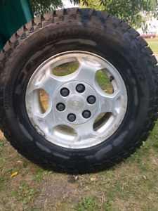 Two complete sets tires And rims plus tools & tools