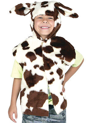 Kids Cow Nativity Farm Animal Fancy Dress Outfit Costume Tabard Tabbard Zoo New