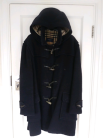 Genuine authentic vintage navy Burberry duffle coat with hood