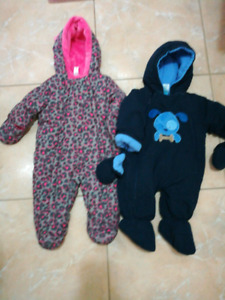 Size 3-6 month snowsuit with mittens