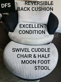 Swivel Cuddle Chair For Sale In England Sofas Couches