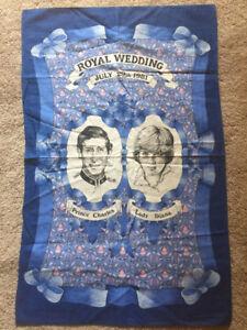 VINTAGE PRINCESS DIANA PRINCE CHARLES WEDDING TEA TOWEL