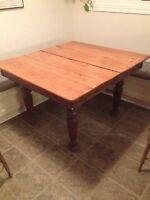 Antique rustic dining room table