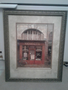 Signed print Antique Store