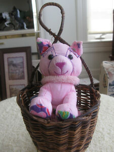 ADORABLE LITTLE WOVEN BASKET-STYLE CHILD'S WALL HANGING