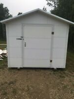 New 8'x10' metal insulated shed