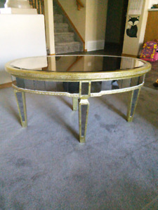 Gold and Mirror coffee table