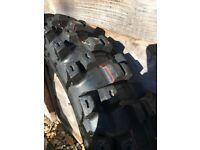 Motocross rear tyre Dunlop Geomax 51 (100/90-19 nearly new