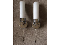 Wall lights with pull cord
