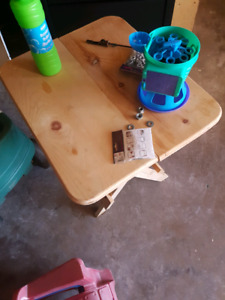 foldable smaller wood table 25$