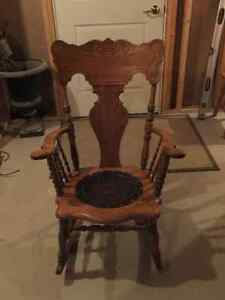 pressback rocking chair