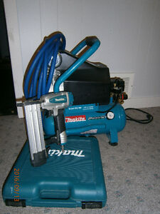 Compresseur Makita 2HP avec cloueuse de finition