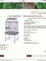 Cage neuve noir / silver kings cage