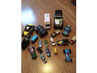 Range of toy cars