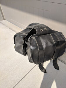 Motorcycle seat and saddle bags