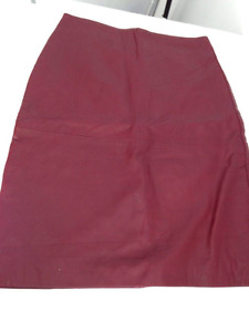 Burgandy lamb leather skirt for sale