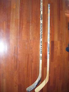 2 Sherwood hockey sticks for sale
