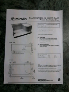 "36"" Wide Mirolin Ellis Walk-in-Shower Base"