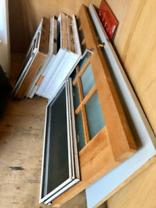Windows, Doors, Ceiling Fan and Kitchen Cabinets for Sale