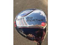 Callaway Big Bertha 9.0 Stiff Driver - Brand New Never Used.
