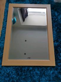 Large Oak effect mirror x 2