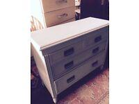 Duck egg blue drawers