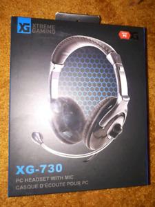 Gaming Headphones XG-730, Almost New, $20