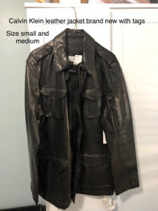 Men's leather jacket, brand new with tags, great quality