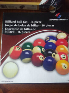 Billiard balls, Triangle, Cue Repair and Table Cover all BNIB