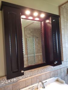 bathroom vanity and medicine cabinet