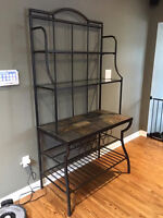 Slate and Glass Bakers Rack - Ashley's Furniture