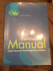 6th Edition APA Manual For Sale!