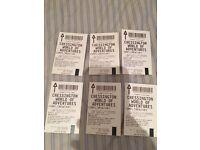 5 X Chessington tickets