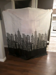 Shower curtain, barely used!
