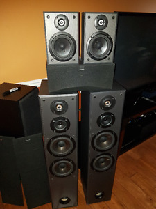 Pioneer VSX-511S with Sony tower speakers