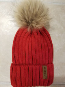 b46ff23cb1b Winter knitted woman hat with real fur pompom.Brand new