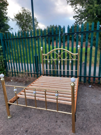 Gold like Double bed frame (delivery available