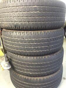 Four 275/60/R20 Goodyear Wrangler SR-A All Season tires