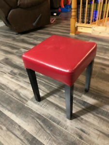 Red foot stool